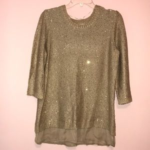 Sequined Sweater: gold